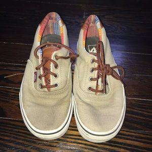 Tan Vans lace up shoe